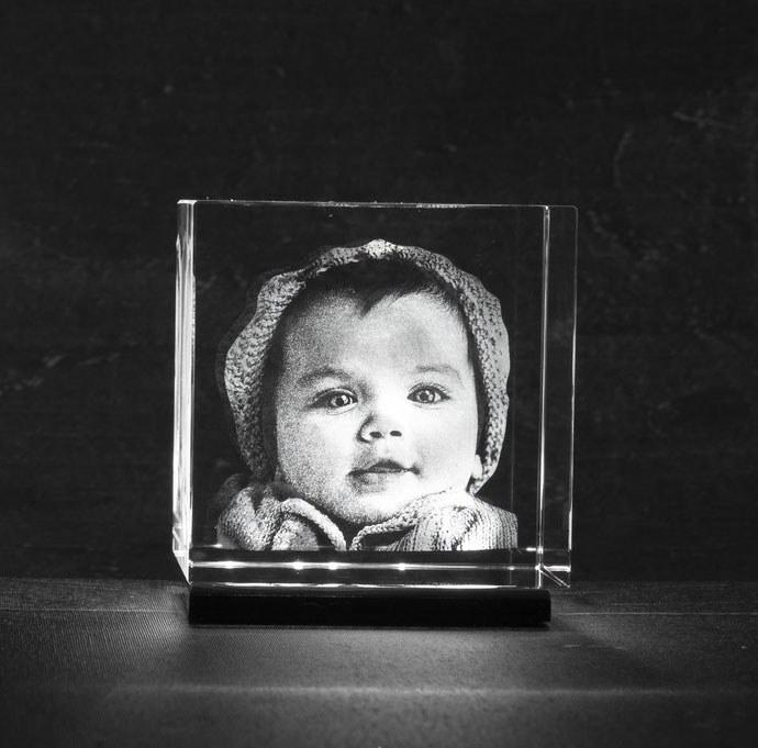 Foto in glas LED verlichting op batterijen adapter